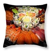 Sushi Party Tray Throw Pillow