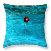 Suspended Apple Throw Pillow