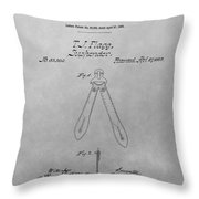 Suspender Patent Drawing Throw Pillow