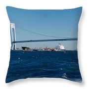 Suspension Bridge Over A Bay Throw Pillow