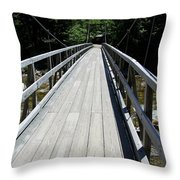 Suspension Bridge Over Pemigewasset River Nh Throw Pillow