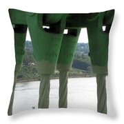 Suspension Cables Throw Pillow