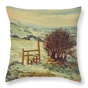 Sussex Stile, Winter, 1996 Throw Pillow