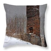 Sutherland Chimney In Winter Number One Throw Pillow