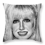 Suzanne Somers In 1977 Throw Pillow