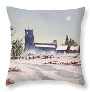 Suzan's Church Painting  Throw Pillow