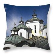 Sv Joakim Osogovski In Macedonia Throw Pillow