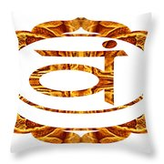 Swadhisthana Abstract Chakra Art By Omaste Witkowski Throw Pillow
