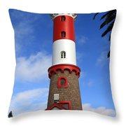 Swakopmund Lighthouse Throw Pillow