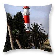 Swakopmund Lighthouse - Namibia Throw Pillow