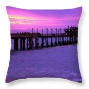 Swakopmund Pier - Namibia Throw Pillow