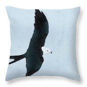 Swallow Tailed Kite Throw Pillow