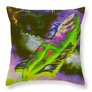 Swallowed By Books Throw Pillow