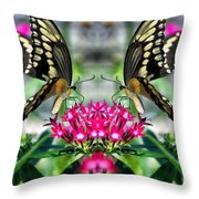 Swallowtail Butterfly Digital Art Throw Pillow