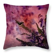 Swallowtail In The Butterfly Bush - Featured In The Wildlife And Comfortable Art And Newbies Groups Throw Pillow
