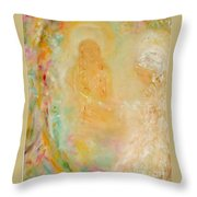 Swami Yogananda And Disciple Throw Pillow