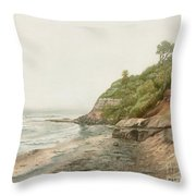 Swami's In Winter  Throw Pillow