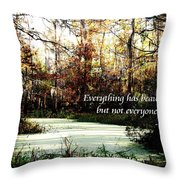 Swamp Beauty Throw Pillow