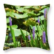 Swamp Flowers  Throw Pillow