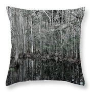 Swamp Greens Throw Pillow
