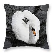 Swan 2 Throw Pillow
