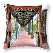 Swan And Dolphin Resort Walt Disney World 3 Panel Composite Throw Pillow