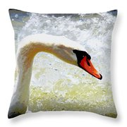 Swan - Beautiful - Elegant Throw Pillow