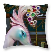 Swan Carrsoul Ride Throw Pillow