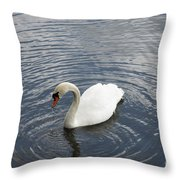 Swan Circles Throw Pillow