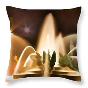 Swan Fountains Throw Pillow