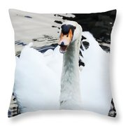 Swan Honk Honk Throw Pillow