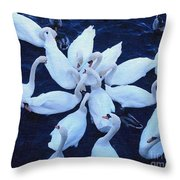 Swan Party Throw Pillow
