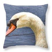 Swan Portrait Throw Pillow