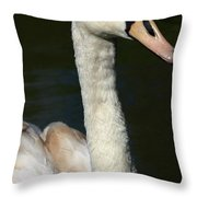 Swan Profile Throw Pillow