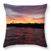 Swan River Sunset Throw Pillow