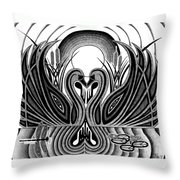 Swan Song  Throw Pillow by Barb Cote
