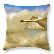 Swan Song Throw Pillow