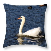 Swan Swim Throw Pillow