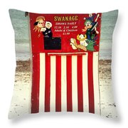 Swanage Punch And Judy Throw Pillow