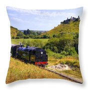 Swanage Steam Railway Throw Pillow