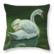 'swanderful Throw Pillow