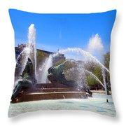 Swann Fountain Throw Pillow