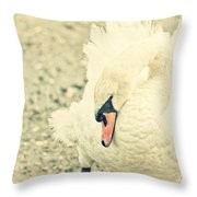 Swanny Throw Pillow