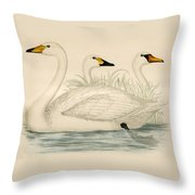 Swans Throw Pillow
