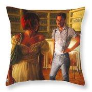 Swans' Focus Throw Pillow