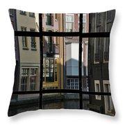 Swans Love Amsterdam Throw Pillow