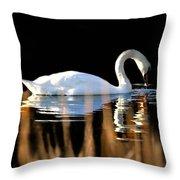 Swan River Throw Pillow