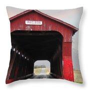 Swartz Covered Bridge Ohio Throw Pillow