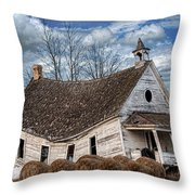 Sway Back School House Throw Pillow