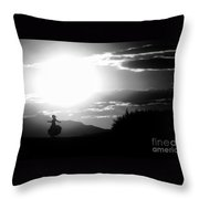 Sway Of The Sun Throw Pillow